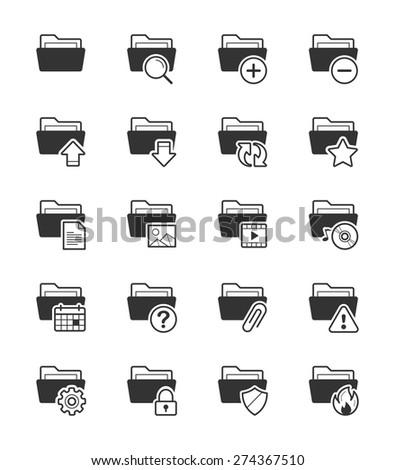 Folder icon on White Background Vector Illustration - stock vector