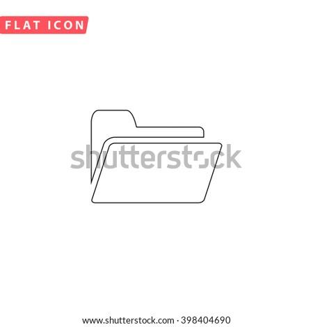Folder Icon Vector.  - stock vector