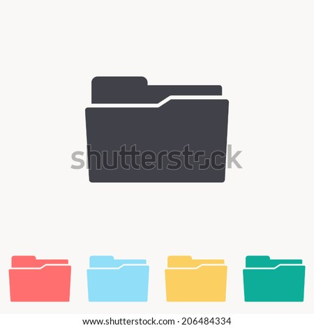 Folder icon , Vector illustration - stock vector