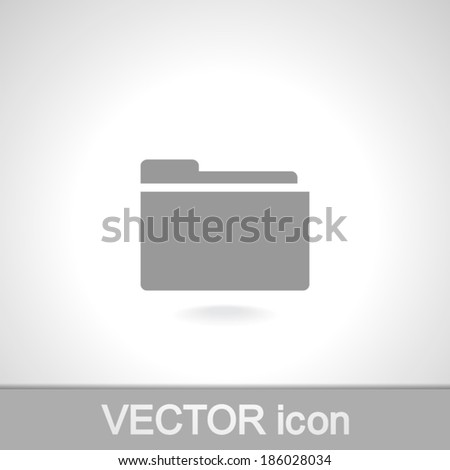 Folder icon, vector illustration. Flat design style - stock vector