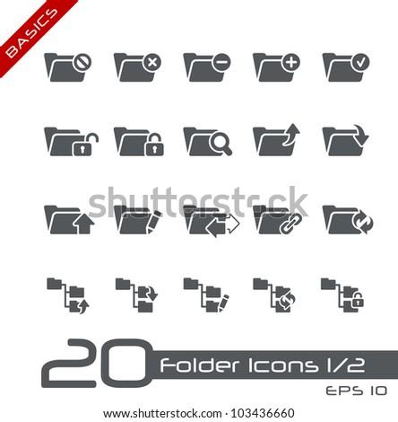 Folder Icons - 1 of 2 // Basics - stock vector