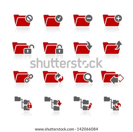 Folder Icons - 1 // Redico Series - stock vector
