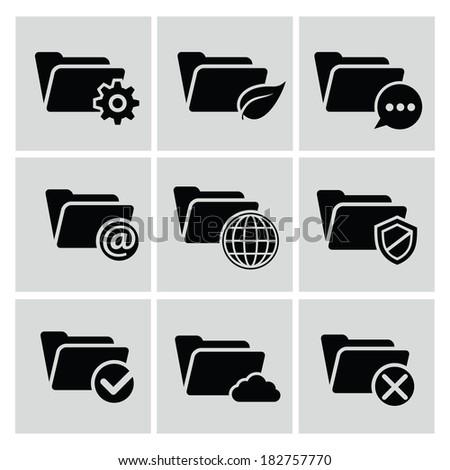 Folder icons,vector - stock vector