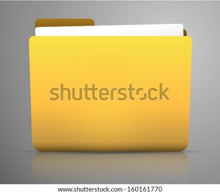 Folder Illustration / Icon on smooth background - stock vector