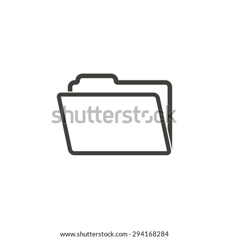 Folder  line icon  on white background. Vector illustration. - stock vector