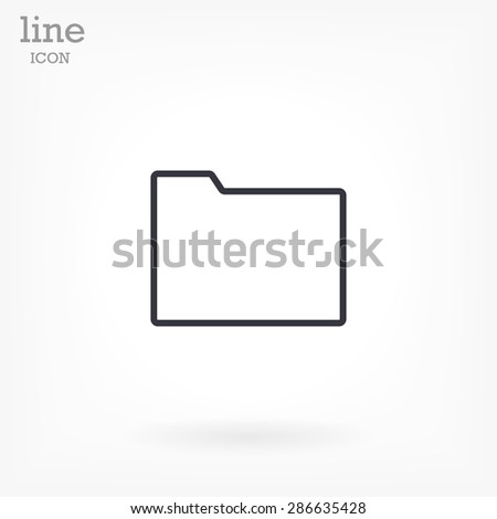 Folder . line vector icon - stock vector