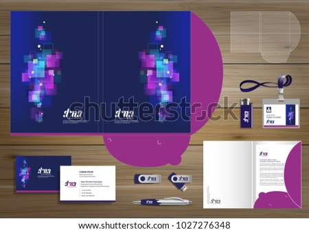 Folder Template design for digital technology company. Element of stationery, people community friends presentation design used for business or working promotion,