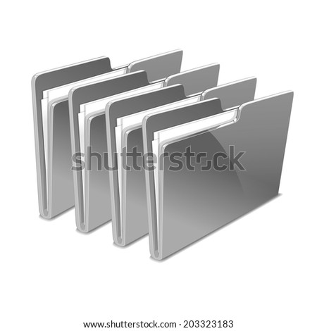 Folder. Vector illustration. store color