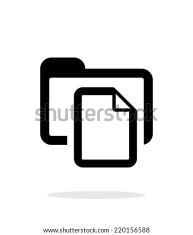 Folder with files icon on white background. Vector illustration. - stock vector