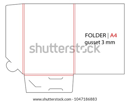 Folder gusset die cut stamp empty stock photo photo vector empty shablon template for a4 documents and business card cheaphphosting Image collections