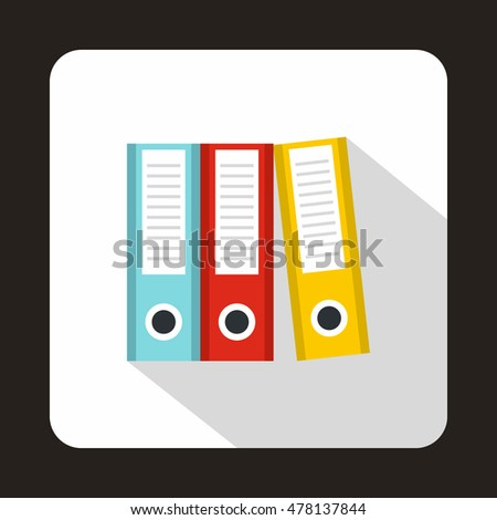Folders icon in flat style isolated with long shadow