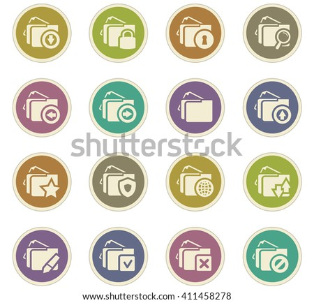 Folders icon set for web sites and user interface