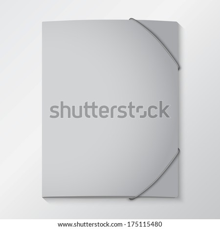 Folders with elastic bands. EPS 10 - stock vector