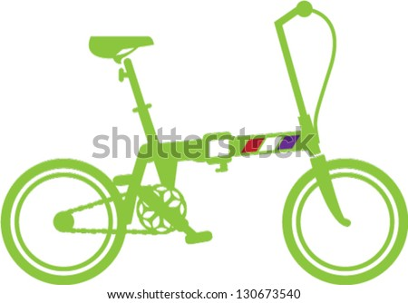 Folding Bicycle - stock vector