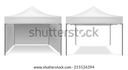 Folding tent - stock vector