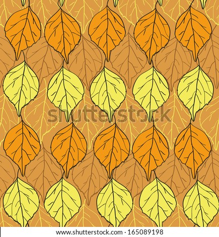 Foliage seamless pattern Vector eps10 - stock vector