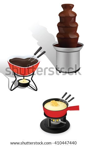 Fondue for cooking and food melting