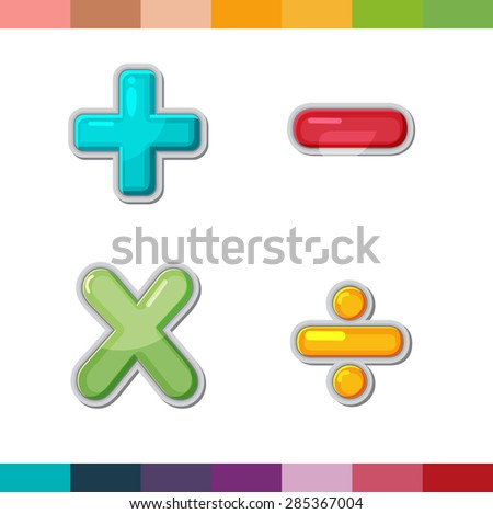 Math Symbol Plusminusmultiplydivide Colorful Paper Cut Stock Vector 466694309 - Shutterstock