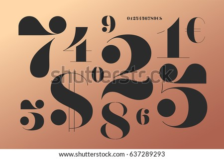 Number stock images royalty free images vectors for Classic house number fonts