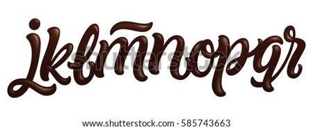 Font set letters j k l stock vector 585743663 shutterstock font set with letters j k l m n o thecheapjerseys Gallery