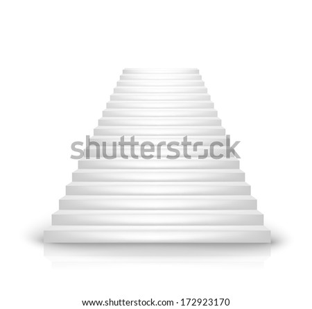 font view white staircase vector on white - stock vector
