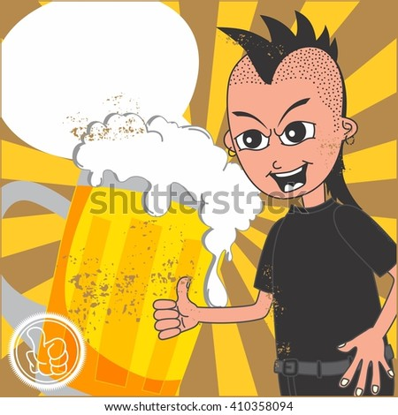 food and drink cartoon guy promotion