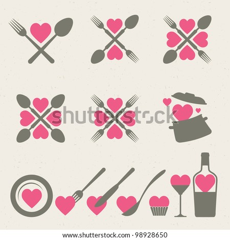 Food and drink icons collection - stock vector