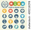 Food and drink icons design,clean vector - stock vector