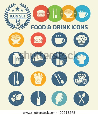 food drink iconsvector stock vector 416389759 shutterstock