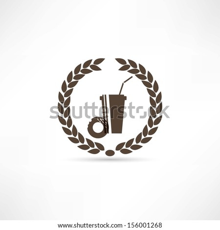 Food and drinks icon - stock vector