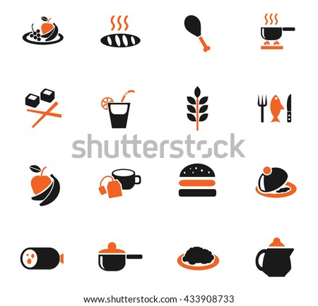 food and kitchen web icons for user interface design
