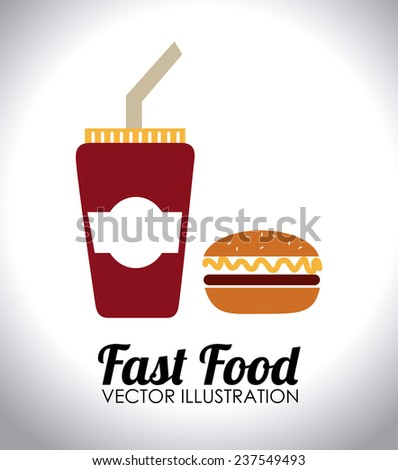 Food and restaurant design over white background, vector illustration