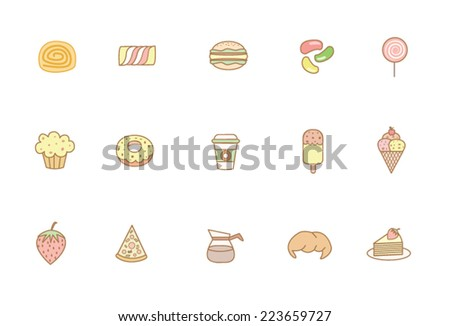 Food and sweet icons
