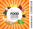 Food background. EPS 8 vector, grouped for easy editing. No open shapes or paths. - stock vector