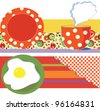 Food banners for cafe or restaurant - stock vector