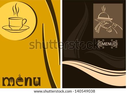 Food Coffee Menu Design Template - stock vector