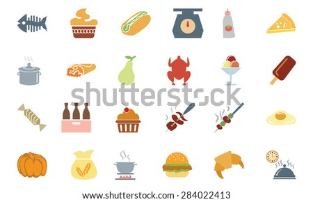 Food Colored Vector Icons 6