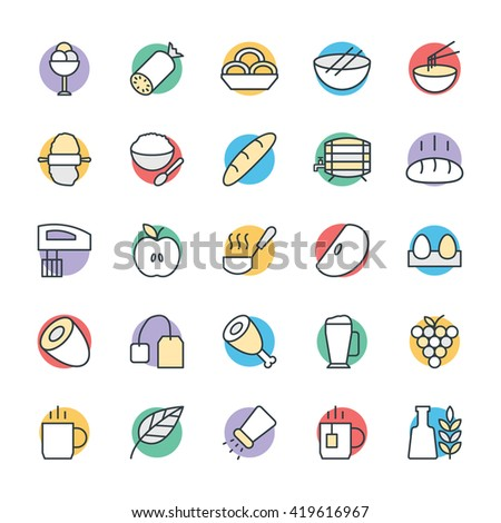 Food Cool Vector Icons 7