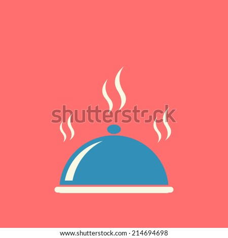 food cover , flat design , vector illustration - stock vector