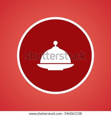 Food Cover Icon. - stock vector