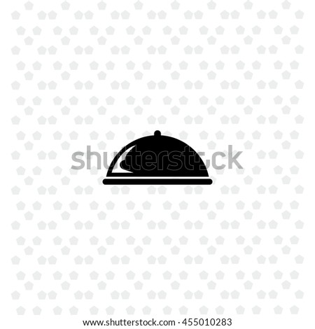 Food cover icon vector. Simple illustration.