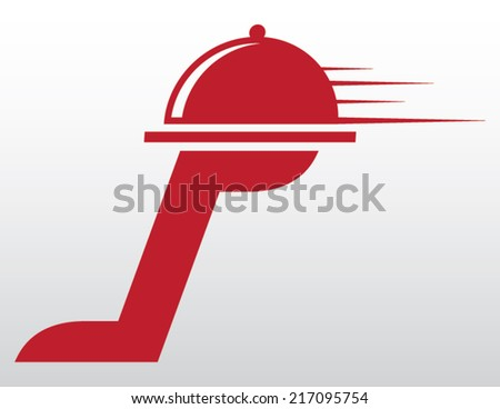 food delivery isolated illustration - stock vector