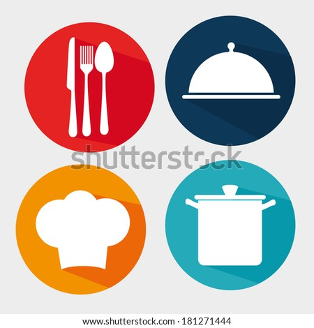 food design over gray background vector illustration - stock vector