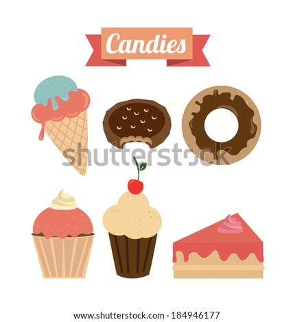 Food design over white background, vector illustration