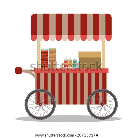 Food design over white background, vector illustration - stock vector