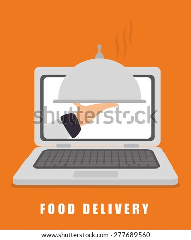Food design over white background, vector illustration. - stock vector
