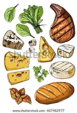 Cheese-steak Stock Vectors, Images & Vector Art | Shutterstock