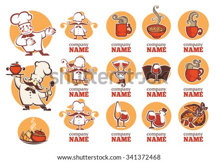 food, drink and cooking collection - stock vector