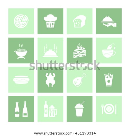 Food & Drink Icon Set. Eps-10.