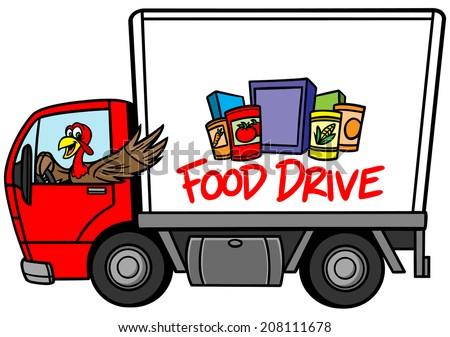 Food Drive - stock vector